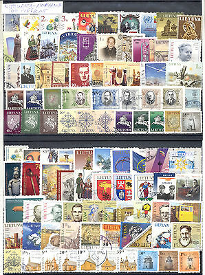 Lithuania Lietuva Selection Of 100 Different Used Stamps. Combined Shipping