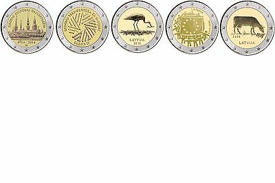 Special coins Latvia away 2014 all Years - free selectable - mint state
