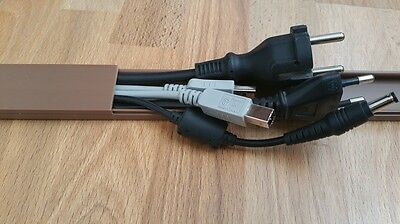 brown 1m Cable channel 31,8x11mm self adhesive (Connector available)