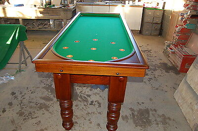 Victorian slate bed bagatelle table