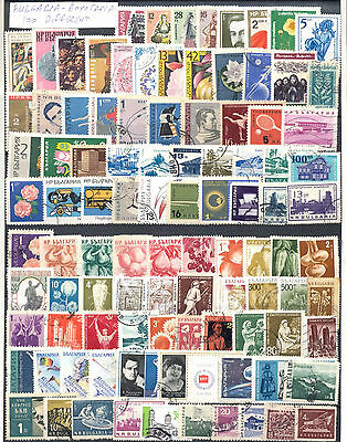 Bulgaria Selection Of 100 Different Used Stamps. Combined Shipping