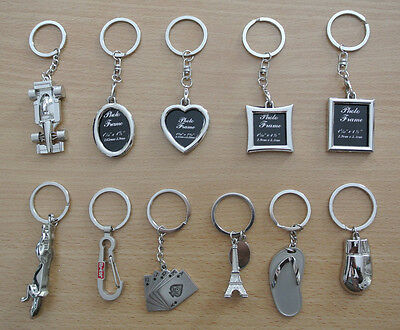 Gift Novelty Steel Alloy Keychain Ring Keyring Pendant Key Fob Funny photo frame