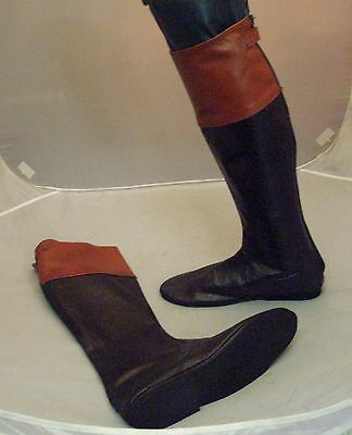 Leather Jockey Riding Boots