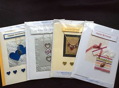 Job Lot Of Handcrafted Greetings / Necklace Cards - Qty 100