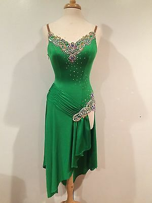 Ladies Rhythm Latin Ballroom Competition Costume Swarovski, Small - Medium