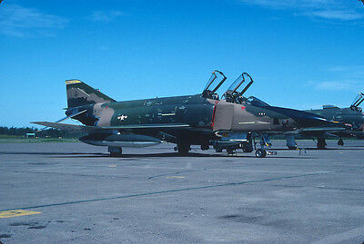 Original Kodak aircraft slide,RF-4C 65-824 Minn ANG in Aug-1980