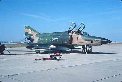 Original Kodak aircraft slide,RF-4C 65-828 Nebr ANG at 25-Oct-1979