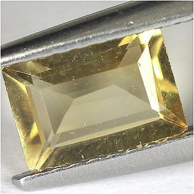 0.8Cts - Natural, Yellow Citrine, Octagon, VVS, Africa, 1Pcs, Unheated
