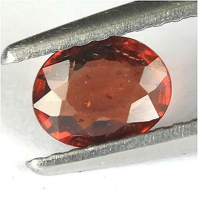 0.64Cts - Natural, Red Rhodolite Garnet, Oval, VS, Africa, 1Pcs, Unheated