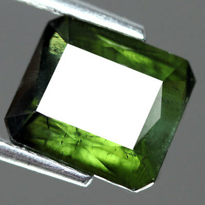 3.1Cts - Natural, Neon Green Tourmaline, Octagon, VS, Nigeria, 1Pcs, Unheated