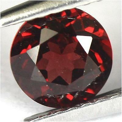 1.05Cts - Natural, Red Almandine Garnet, Round, VS, Africa, 1Pcs, Unheated