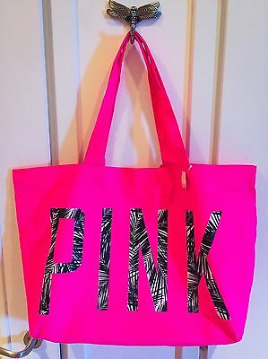 Brand New Pink By Victoria's Secret VS Large Tote Bag Shopping Beach Gym NWT