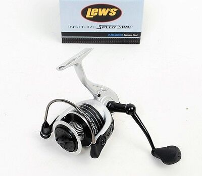 Lew's INS4000 Aluminum Inshore Speed Spin Fishing Reel, NEW