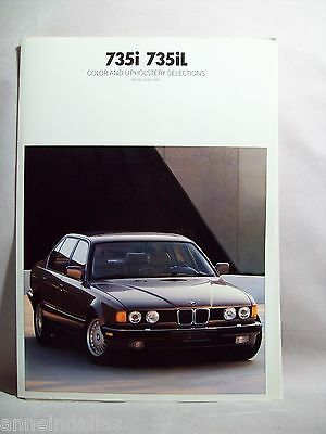 1990 BMW 735i 735iL Color and Upholstery Selections