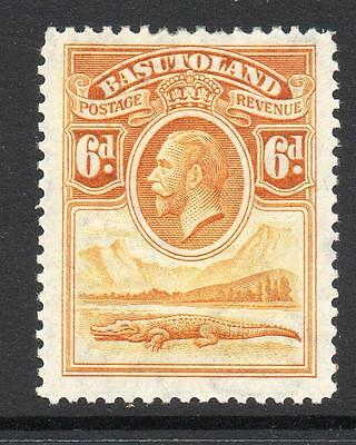 Basutoland 6d Stamp c1933 Mounted Mint