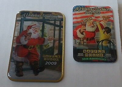 Waffle House Collectors Pins Christmas 2009 and 2010