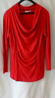 next maternity red top cowl neck size 14