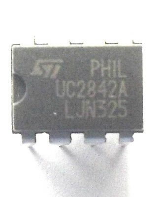 UC2842AN marked UC2842A ST CONTROLLER, PWM, CURRENT MODE, PDIP -8 x2pcs