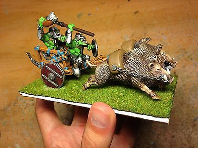 Carro Orco De Jabalies. Warhammer. Pro Painted. Orcos Y Goblins.