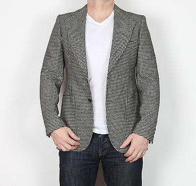 "70's 80's Harris Tweed Chest 36"" Jacket Blazer Grey HDA 1970's 1980's Dunn & Co"