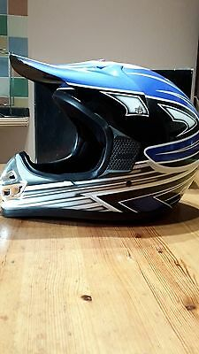 Motorcycle Motocross Helmet * Acu Gold * Size Large