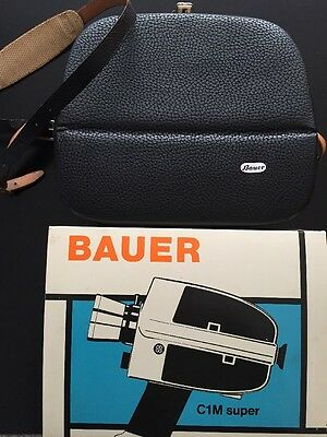 Bauer C1M Movie Camera Made In Germany Vintage With Original Box And Case