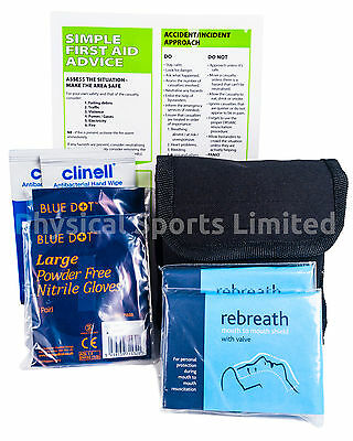 Personal Protection and Resuscitation Kit in Belt Pouch