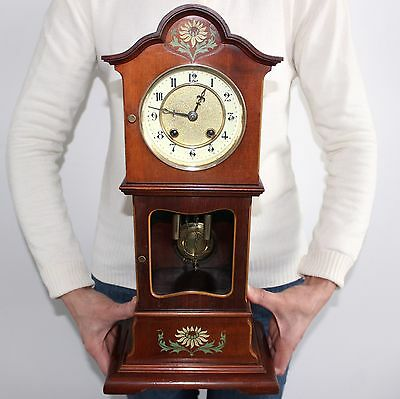 PFEILKREUZ JUNGHANS Antique Baby Grandfathers Mantel EXTREMELY RARE! Clock CHIME