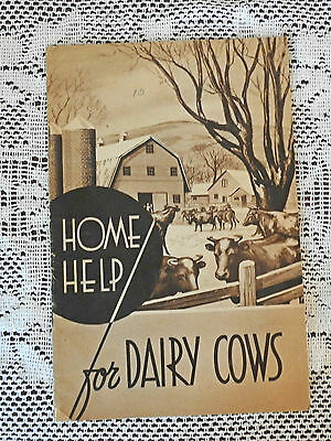 Vtg. Home Help for Dairy Cows Booklet 1939-Dairy Assoc. Co.