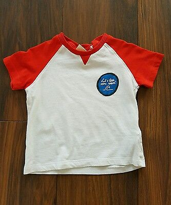baby boys ZARA 'let's catch some waves' t-shirt size 12-18 months