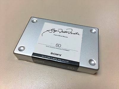 Sony Audio Tape Cassette Super Metal Master 60 Minutes New Sealed *** RARE ***