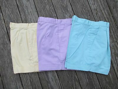 Vintage 80's High Waist Short Shorts Cheryl Tiegs Lot 25 Cuffed Pleated