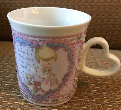 Precious Moments Coffee Mug Friends 3.75 Inches Good Condition