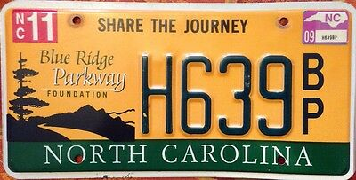 North Carolina Blue Ridge Parkway Mountains license plate Wildlife National Park