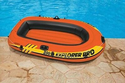 """INTEX EXPLORER PRO 200 INFLATABLE DINGHY TWO 2 PERSON/MAN BOAT 77"""" x 40"""" TY5263"""