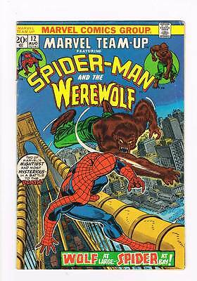 Marvel Team-up # 12 Spider-Man & Werewolf grade 4.0 scarce book !!