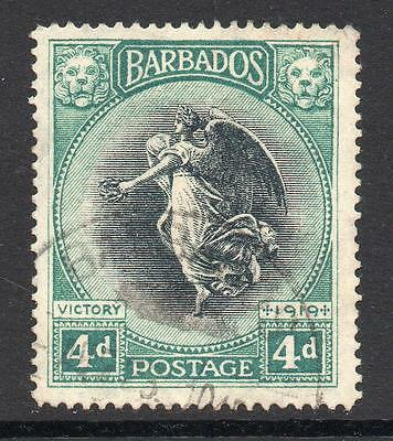 Barbados 4d Stamp c1920-21 Used