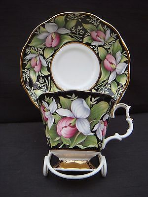 Vintage Royal Albert Provincial Flowers Cup & Saucer Lady's Slipper