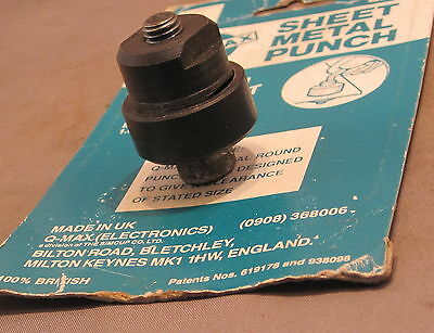 QMAX SHEET METAL HOLE PUNCH  27.5mm  as detailed   USED