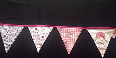 Girls Marks & Spencer Emily Button Bunting Pink Mix Length 2m Approx