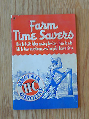 Vtg. Farm Time Savers Booklet - Sinclair HC Gasoline 1949