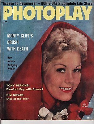 April 1957 Photoplay Ava Gardner Anne Baxter Tony Perkins