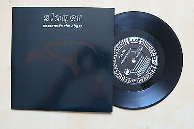 """SLAYER Seasons In The Abyss UK 7"""" in picture sleeve Def American 1990 Mint"""