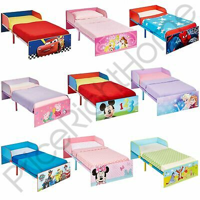 Official Character Toddler Bed With Protective Panel Paw Patrol Peppa Pig & More