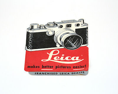 Rare LEICA ADVERTISEMENT - STORE / DISPLAY DECAL for franchised Leica dealer