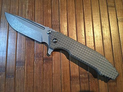 Peter Rassenti Knives Custom SNAFU Monkey Edge Frag Integral Messer Strider