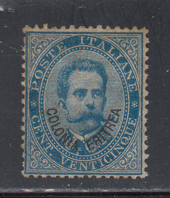 Eritrea 6 Unused OG HR 1892 25c Blue King Humbert I SCV $1450