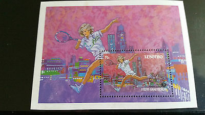 Lesotho 1988 Sg Ms852 75Th Anniv Of Tennis Federation Mnh