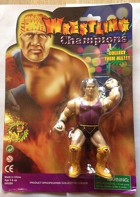 Mannix Wrestling Champions Figure Moc Bootleg Knock Off Lex Luger Wwf Hasbro