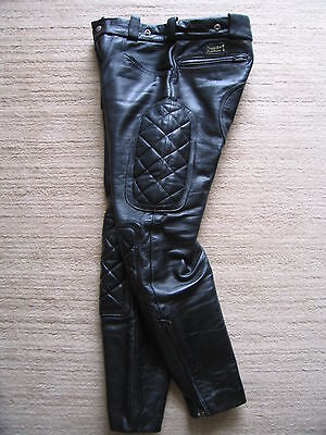 Crusader - Lewis breeches black leather motorcycle pants w34 RoB - Bluf - Gay!